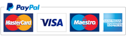 PayPal and credit card logos